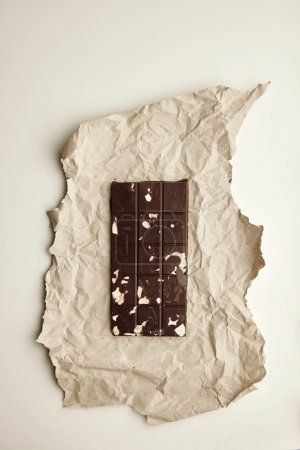 healthy chocolate bar with nuts