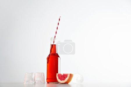 Tasty fresh grapefruit lemonade
