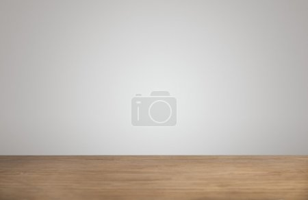 Simple background thick wooden table