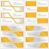 4 item yellow color design banner