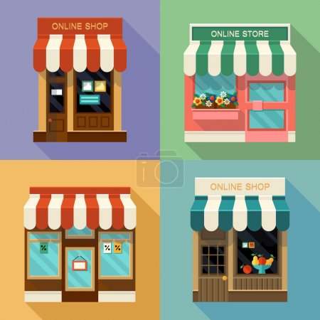 Online shops icons