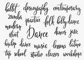 Dance studio inspiration typography set