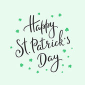 Happy St Patricks day lettering