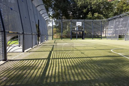 Soccer and basketball cage
