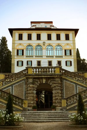 view on restored ancient mansion