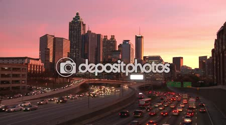 Atlanta Skyline with traffic below.