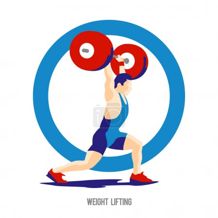 Weight Lifting athlete on ring background