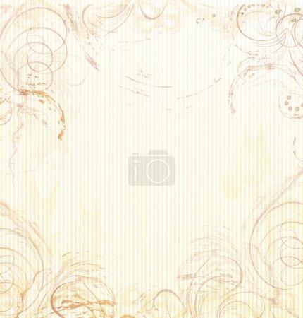 Illustration pour Fond beige abstrait dans le style vintage, grunge, rétro. vecteur - image libre de droit