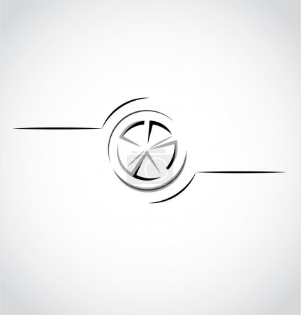 Abstract car wheel, rim logo