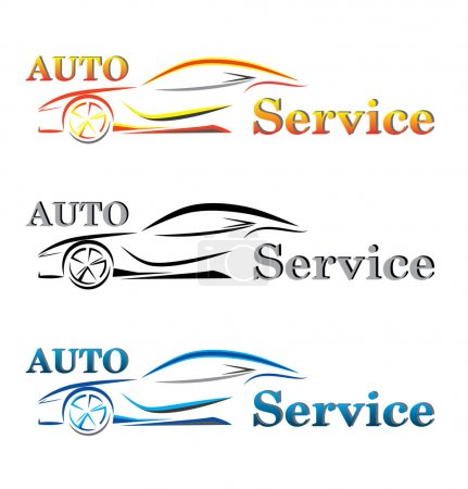 set of car service logo