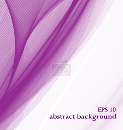 Illustration for Abstract purple background. transparent, light tissue - Royalty Free Image