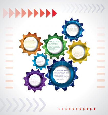 Business infigraphics template with gears