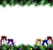 Slavnostní vánoční strom. vektorové hranice