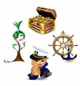 Lustig Meer Zeichen und Embleme