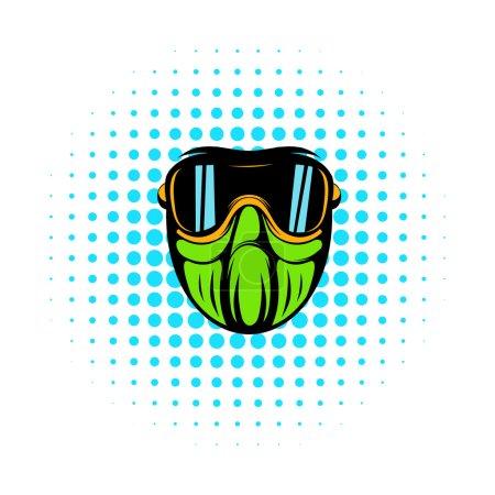 Protective mask comics icon