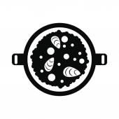 Paella icon simple style