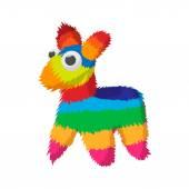 Colorful donkey icon cartoon style