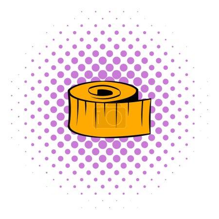 Measuring tape icon, comics style