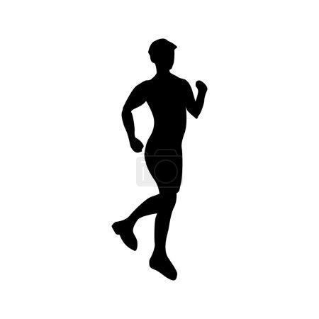 Running silhouette black