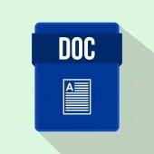 Ikona souboru DOC, ploché styl