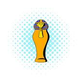 Egyptian pharaoh sarcophagus icon comics style