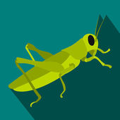 Grasshoppers icon in flat style