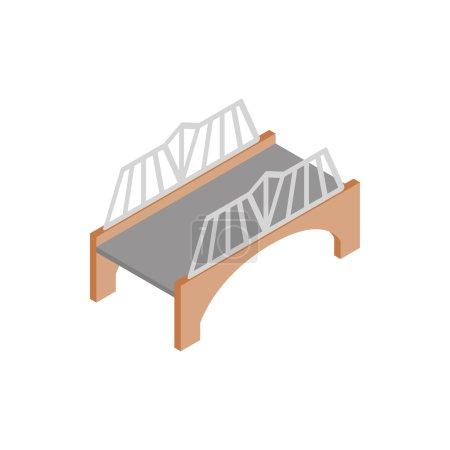 Bridge with wrought iron railings icon