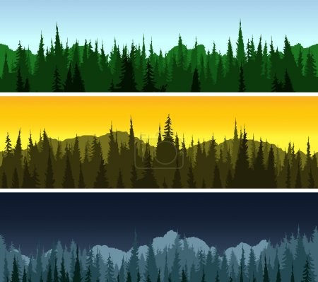 Forest panorama set
