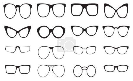 Eyeglasses silhouette set