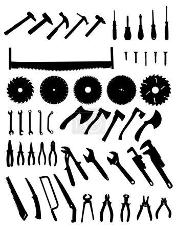 Big tools silhouette set