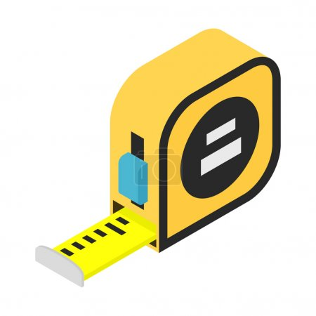 Builders tape measure isometric 3d icon