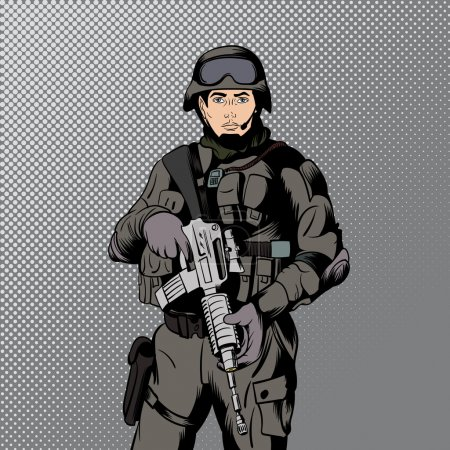 Military comics man