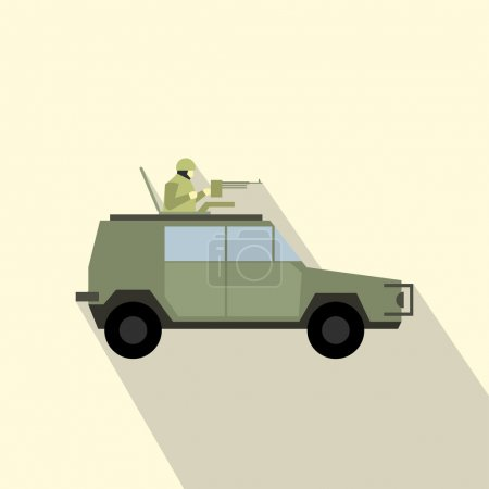 Military war car flat icon
