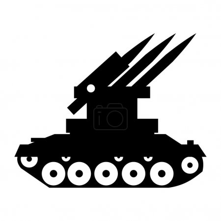 Anti-aircraft warfare simple icon