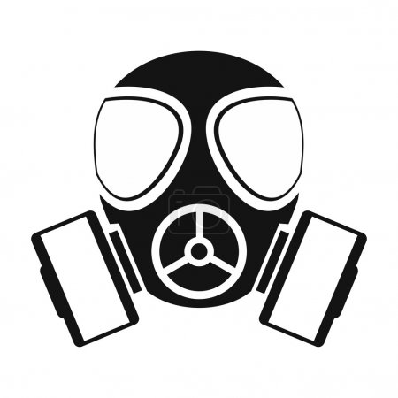Gas mask simple icon
