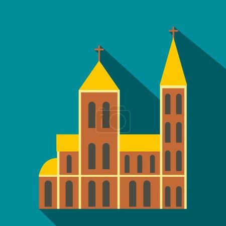 Catholic church flat icon