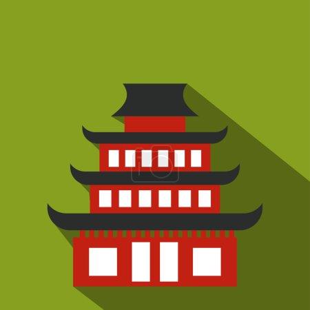Icône plate pagode