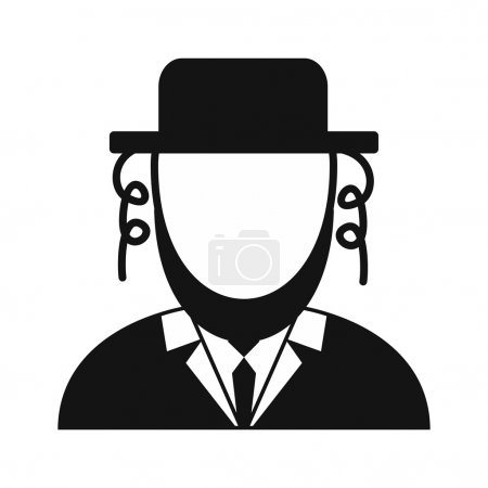 Rabbi simple icon
