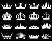 Crowns white silhouette set