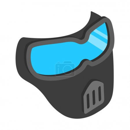 Protective mask 3d isometric icon