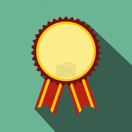 Illustration for Medal award military flat icon with shadow for web and mobile devices - Royalty Free Image