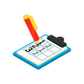 Golf scorecard with pan isometric 3d icon
