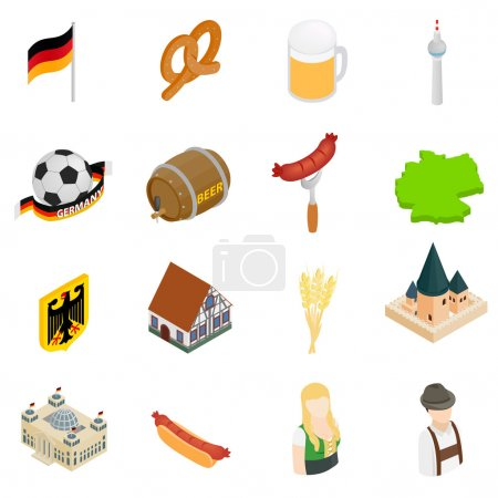 Germany isometric 3d icons