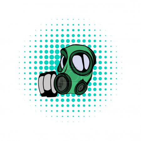 Illustration for Gas mask comics icon on a white background - Royalty Free Image