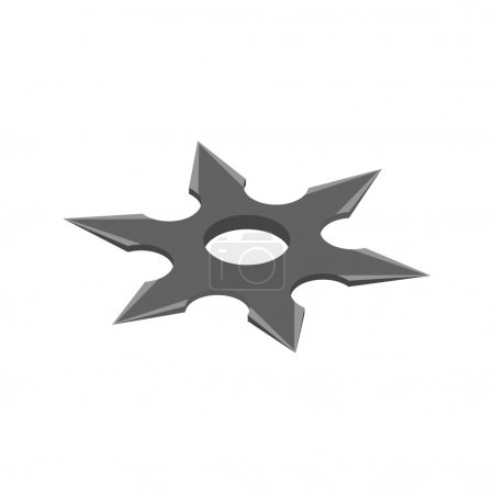 Illustration for Shuriken isometric 3d icon on a white background - Royalty Free Image