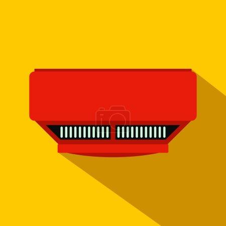 Smoke detector flat icon