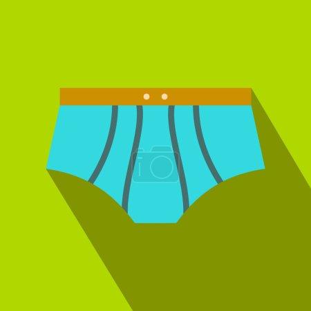 Men swimming trunks flat icon