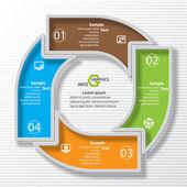 Abstraktní 3d papír infografika