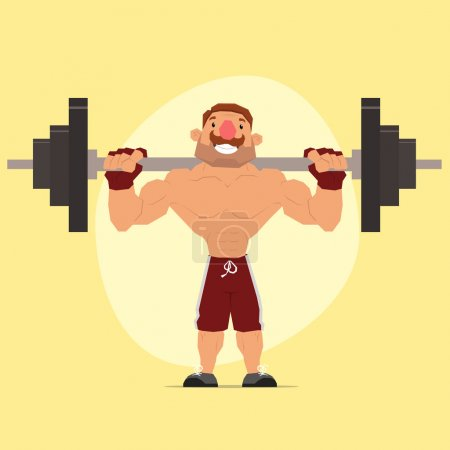 weightlifter. athlete over the bar.