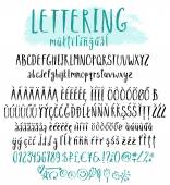 Multilingual lettering style alphabet